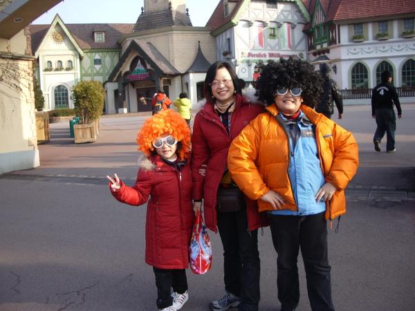 這是我們在愛寶樂園所拍的照片