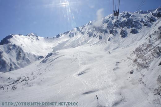 大觀峰-黑部平(約7分鐘)-好厲害的滑雪痕跡3.