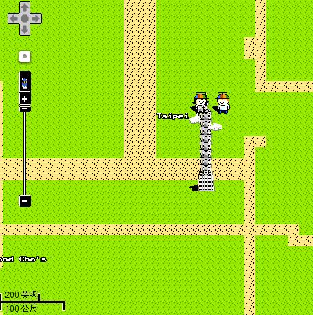 Google Maps 8-bit Taipei101