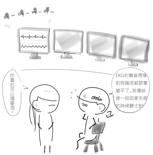 規律的EKG真的很催眠