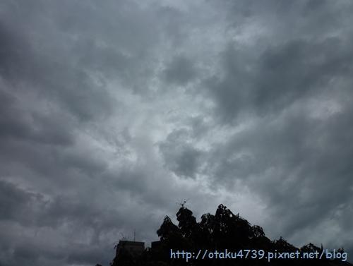 0824天秤颱風-下午的天空