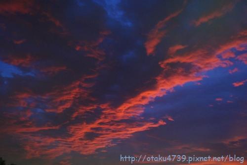 0824天秤颱風的傍晚-火燒雲