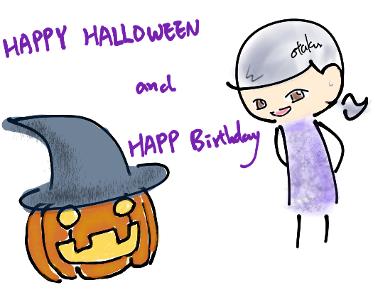 happy halloween & happy birthday