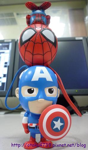 超級聯盟公仔-美國隊長&蜘蛛人