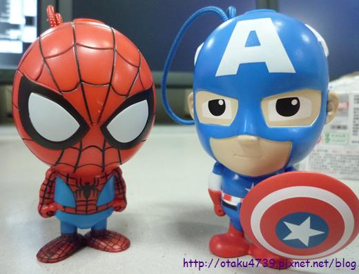 超級聯盟公仔-蜘蛛人+美國隊長