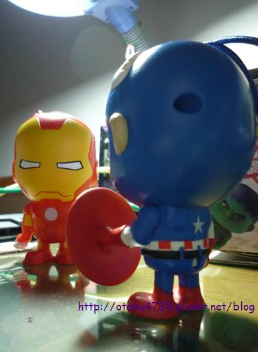 超級聯盟公仔-鋼鐵人vs美國隊長