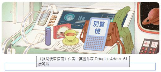 google doodle-銀河系便車指南