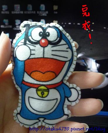 哆啦A夢-布偶明信片-正面