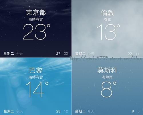 iOS7天氣