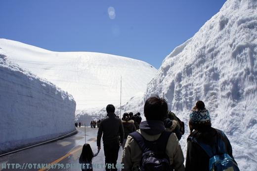 室堂站-雪牆1