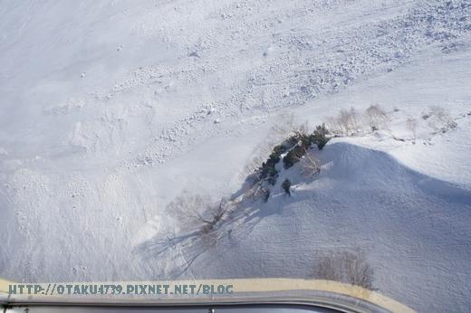 大觀峰-黑部平(約7分鐘)-好厲害的滑雪痕跡1