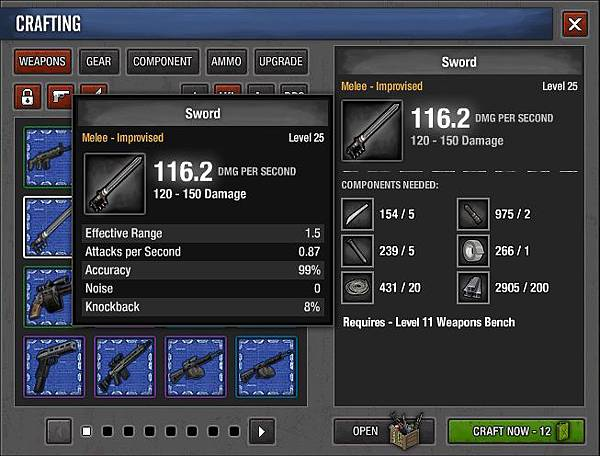 Crafting Weapon-Sword