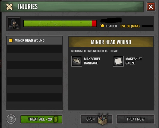 Injuries system