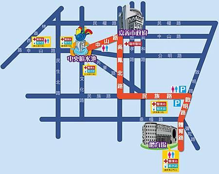 踩街路線圖
