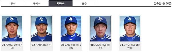 2012亞洲職棒大賽三星獅外野手