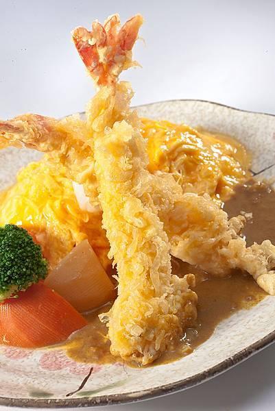 203咖哩炸蝦蛋包飯