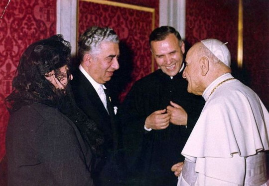 Khachaturian_meeting with the Pope John 23rd Vatican_1963