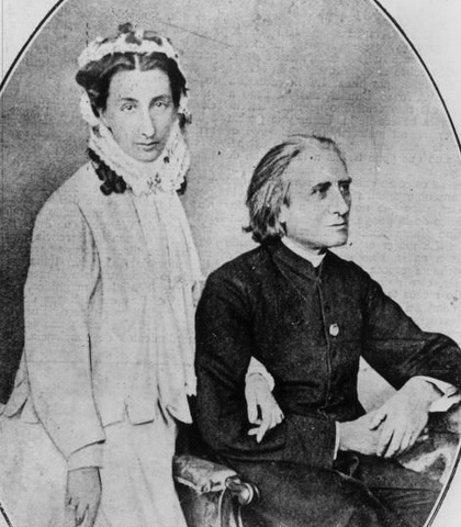 Liszt with Princesa Carolyne
