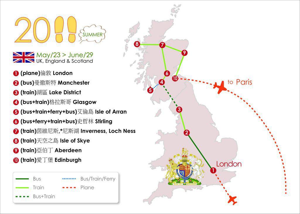 Travel in England+Scotland