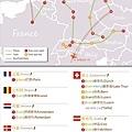 Travel Map Part2(這是我2011旅歐的第二階段,6月底到8月底的路線圖)