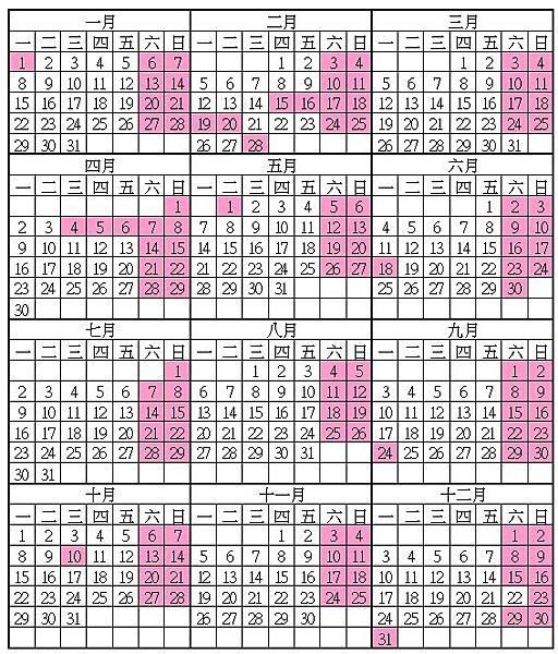 107年期貨行事曆-農曆春節封關日2月12日-2月21日開春交易