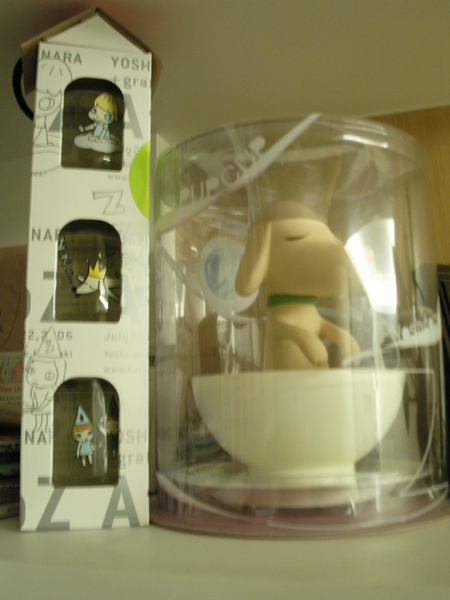 奈良美智設計的酒瓶+旋轉小狗杯