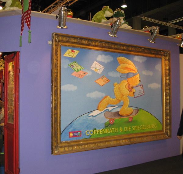 書展會場內的童書攤位