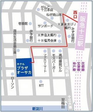 大阪廣場飯店地圖