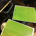 混合感光劑用檸檬酸鐵銨+鐵氰化鉀+水,塗在水彩紙插畫紙或其他紙上