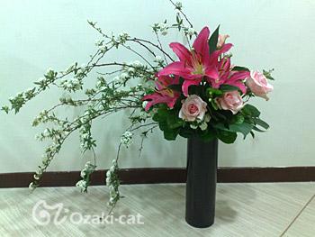 下垂型百合開花