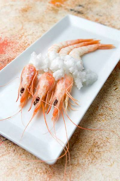 Ronda Rest(Westin)(White prawns from Huelva with an icy sea water, chamomile and lemon dressing