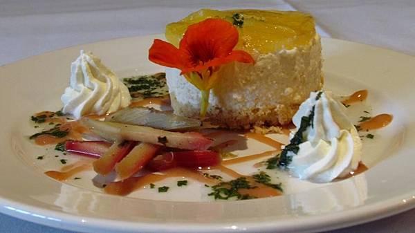 Curators House Spainish Rest(CHC;Pineapple cheesecake with mojito rhubarb.jpg
