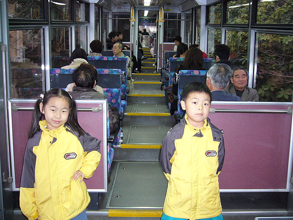 火車上有階梯