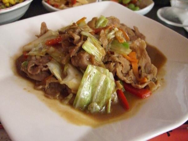野菜豬肉味噌燒定食 (主菜)