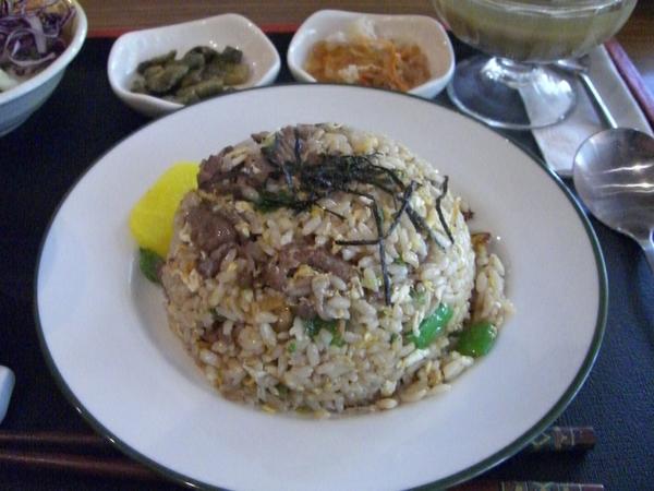 牛肉炒飯定食