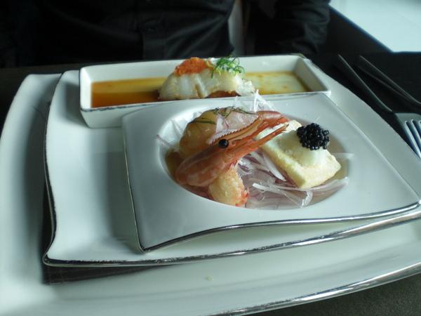 蝶魚生魚片&牡丹蝦