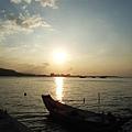 淡水碼頭的黃昏