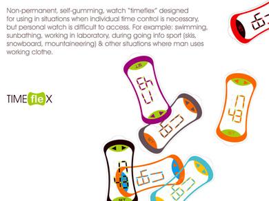 超薄型可折彎顯示器-TimeFlex 概念手錶(2)
