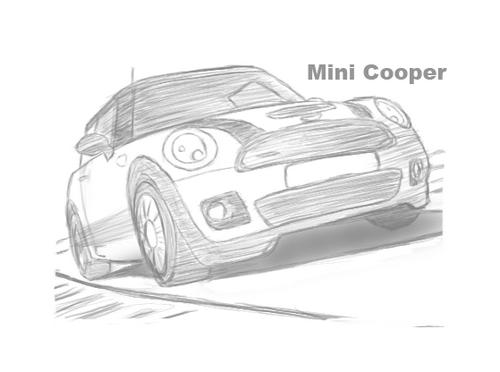 繪圖版塗鴉系列-Mini Cooper