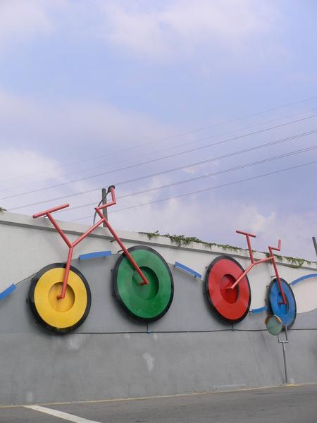 很彩色的腳踏車