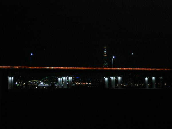 仔仔夜騎的景色
