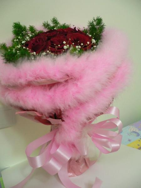 還有粉紅色的毛毛包裝