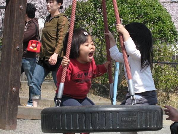公園--玩耍中