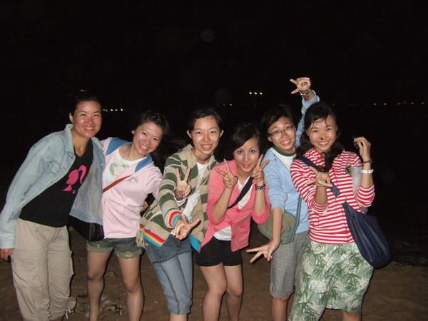 夜遊隘門沙灘