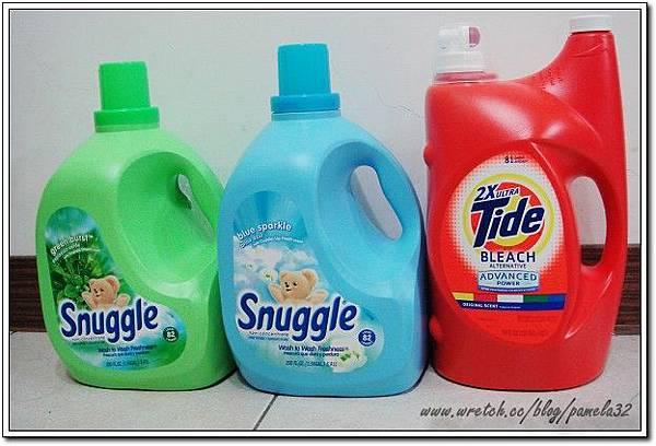 Tide洗衣精+Snuggle柔軟精