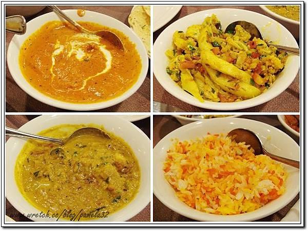 坦都印度餐廳-奶油雞片$350+椰菜花馬鈴薯$220+番椒洋