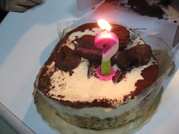 不幸跌了一跤的蛋糕