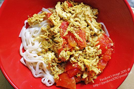 纖吃纖盈蒟蒻麵+蛋+蕃茄+雞胸肉