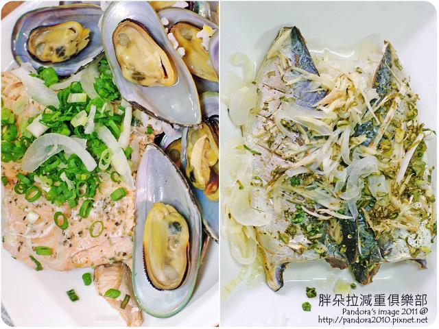 2011.08.05-淡菜、烤鮭魚、洋蔥鯖魚