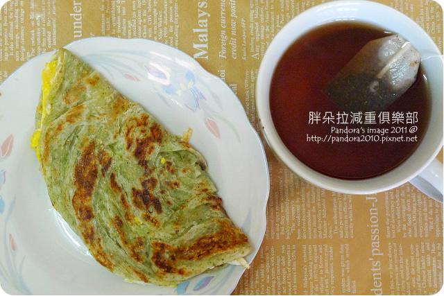 2011.08.18-(光頭呂)海苔抓餅、(天仁)菊普茶